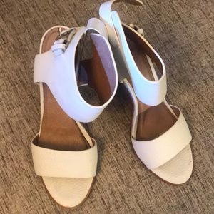 White leather Sandals by Joie